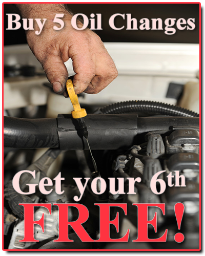 Buy 5 Oil Changes Get your 6th FREE